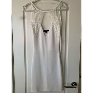 Missguided White Dress With Lace